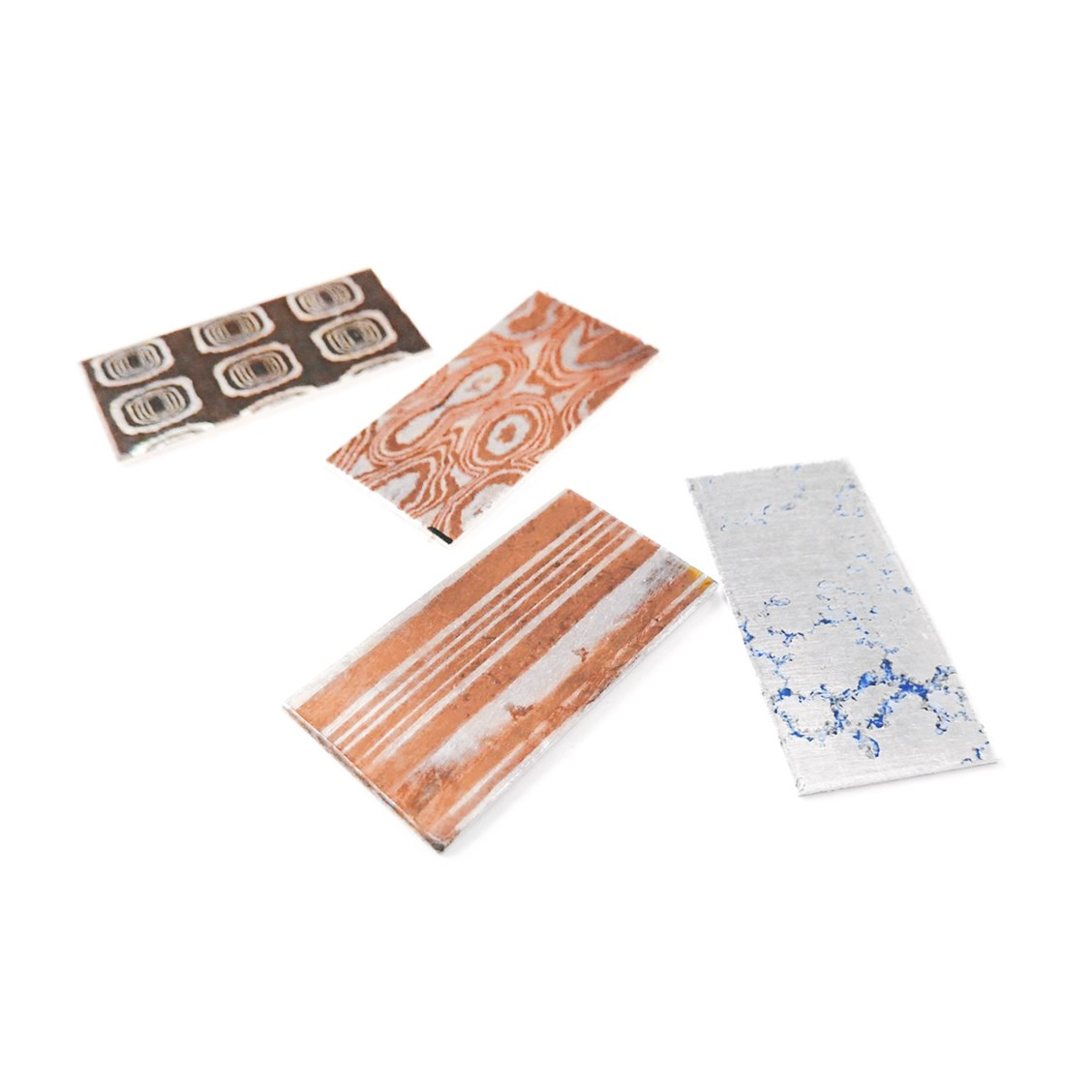 Assorted Specialist Metal Pack Of Mokume Gane And Crinkle