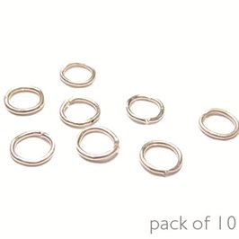 Plated 4mm Round Jump Rings, Pack of 10