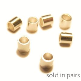 Rolled Gold 2x2mm Crimps