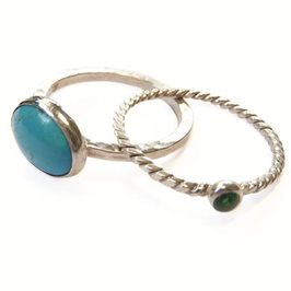 Easy to Make Gemstone Stacking Rings