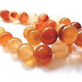 Carnelian Rounds Beads, 12mm