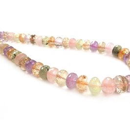 Multi Quartz Faceted Rondelle Beads Approx 8x5mm