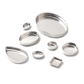 Sterling Silver Plain Edge Bezel Cups for Cabochon Stones