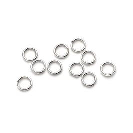Sterling Silver 3.5mm Round Jump Rings, Pack of Ten