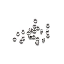 Sterling Silver 1mm Mini Crimps, Per Pack of Ten Pairs