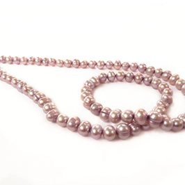 Lilac Colour Freshwater Potato Pearls, 4-5mm