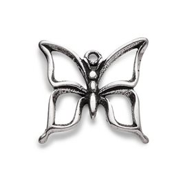 Sterling Silver Openwork Butterfly Charm