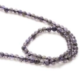 Iolite Round Beads 4-5mm