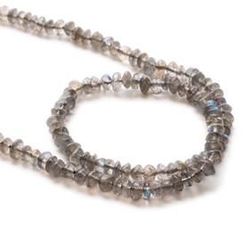 Labradorite Rondelle Beads, 5x3mm