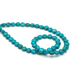 Chinese Turquoise 8mm Coin Beads