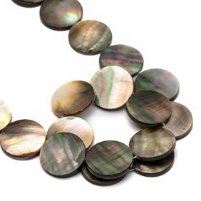 Black Lip Pearl Flat Coin Beads