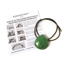 Faceted Gemstone Focal Bead Necklace Kit