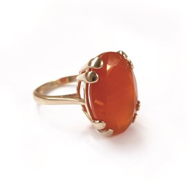 9ct Gold Ring for an 18x13mm Faceted Stone