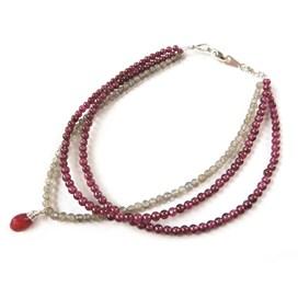 Ruby Garnet Drop Bracelet