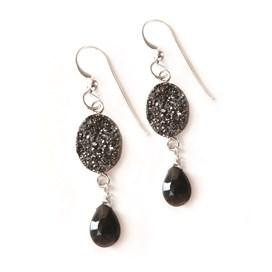 Drusy Sparkle Drop Earrings