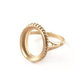 9ct Gold Ring for 14x10mm Oval Cabochon Stone