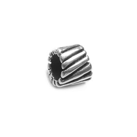 Sterling Silver Stripey Charm Beads