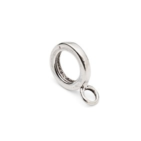 Sterling Silver Plain Charm Bead Bail