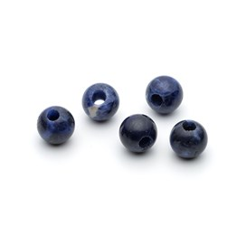 Sodalite 10mm Round Large Hole Charm Beads
