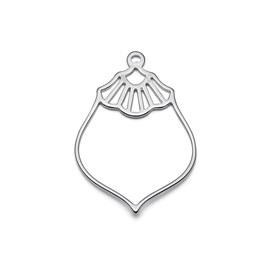 Sterling Silver Vintage Deco Pendant Charms