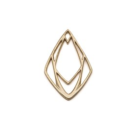 14ct Gold Vermeil Large Geometric Diamond Pendant Charms