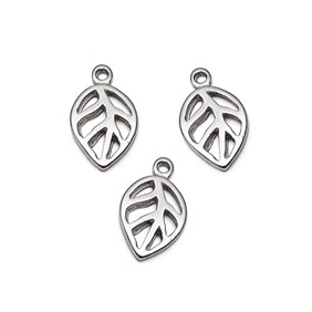 Sterling Silver Open Leaf Charms