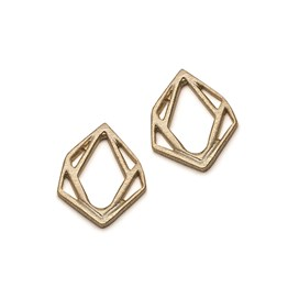 14ct Gold Vermeil Small Geometric Diamond Pendant Charms