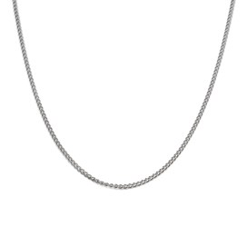Plated Curb Chain, 45cm Necklet