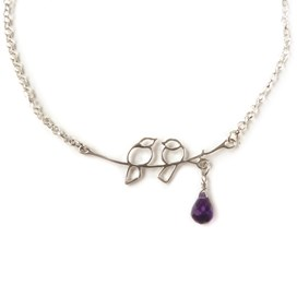 Sterling Silver Lovebird Necklace