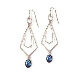 Paua Shell Geometric Earrings
