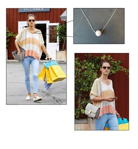 MAKE THE LOOK CELEBRITY SPOTS - PEARL SILVER NECKLACE