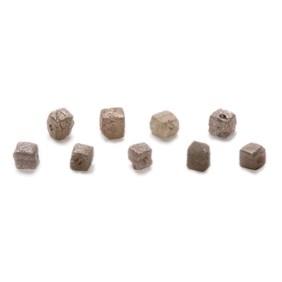Rough Diamond Natural Crystal Cube Beads