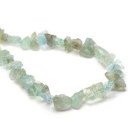 Aquamarine Rough Nugget Beads