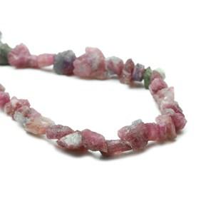 Pink Tourmaline Rough Nugget Beads