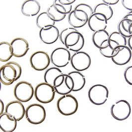 Plated 4mm Round Jump Rings, Pack of Fifty