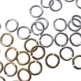 Plated 5mm Round Jump Rings, Pack of 50