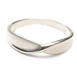 Sterling Silver Satin Finish Ring