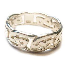 Sterling Silver Celtic Knot Band Ring
