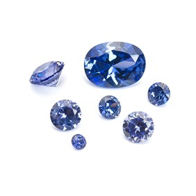 Tanzanite Coloured Cubic Zirconia Faceted Stone