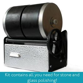Kitiki Rotary Studio Tumbler Kit For Polishing Glass & Stone