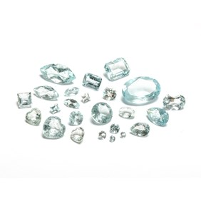 Aquamarine B Quality Faceted Stone