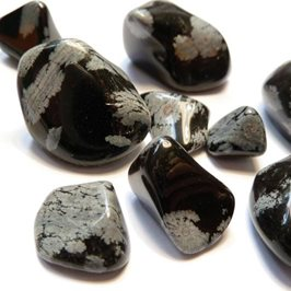 Snowflake Obsidian Tumble Polished Gemstones, Small