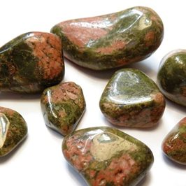 Unakite Tumble Polished Gemstones, Small