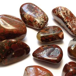 Brecciated Jasper Tumble Polished Gemstones