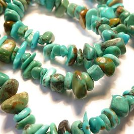 Chinese Turquoise Chip Beads, 90cm Strand
