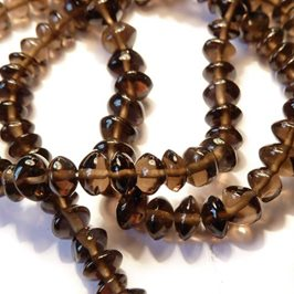 Smoky Quartz Rondelle Beads, 5x3mm