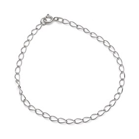 Sterling Silver Light Long Curb Chain