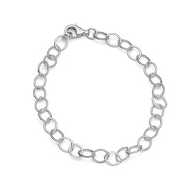 Sterling Silver Large Link Flat Trace Chain