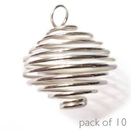Silver Plated Large Spiral Pendant, Pack of 10
