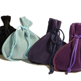 Velvet Effect Drawstring Pouches